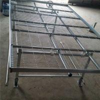 苗床网站镀锌网片 防侧翻护栏网 育苗穴盘 可移动苗床供应