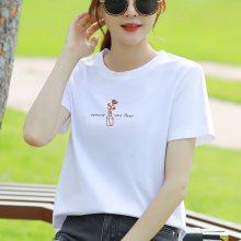 黑龙省哪里有便宜女装T恤衫批发纯棉女士T恤衫批发几元服装货源批发