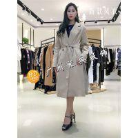 品牌女装专柜正品时尚秋冬装爆款修身长袖简约气质蘭秀儿风衣外套