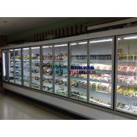 大型商场超市风幕柜,淮南鲜奶牛奶保鲜风冷柜,徽点厂家直销玻璃门立风柜