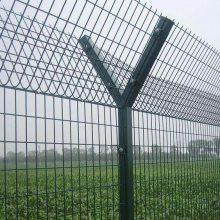 河源刺丝护栏网厂家 珠海保税区围墙防爬网 广州机场铁网
