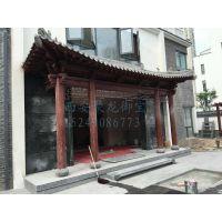 中式餐厅门头-门面门头设计-实木门头价格_仿古建门头定制