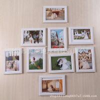 韩国田园相框6寸7寸10寸树脂相片框白色欧式复古婚纱照摆台结婚照
