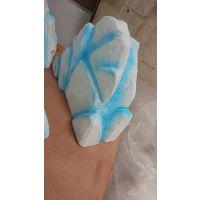 定制 冰川冰山假山泡沫雕塑道具橱窗道具婚礼冰雪奇缘泡雕定做冰柱道具