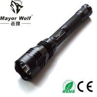 供应厂家批发 led充电手电筒 户外照明防身防水强光手电筒
