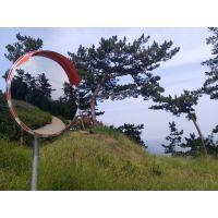 不锈钢道路反光镜 室外交通广角镜 80cm凸球面镜 转角弯镜