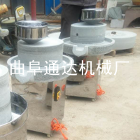家用小型豆浆石磨机 石磨肠粉机多少钱 通达 多功能米浆磨浆厂家