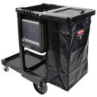 乐柏美美国RUBBERMAID 1861430行政洗礼清洁推车带可锁门和垃圾袋盖
