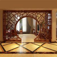 客厅仿古月洞门 中式实木月洞门 月洞门定制 来图订做