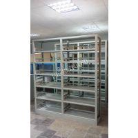 广州学校办公单双面铁书柜架钢木书架资料图书架全钢双面六层书架书架定做厂家