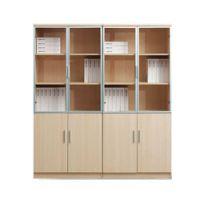 徐州办公家具简约风格文件档案柜 木质组合时尚书柜 大班台配套书柜