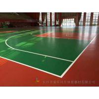 张家界学生训练场篮球架 慈利塑胶篮球场颜色搭配施工厂家