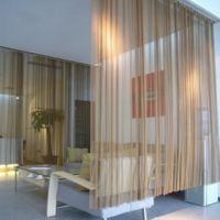 中国连锁店装饰窗帘网 S31603不锈钢金属绳扁丝装饰网