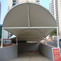 车库入口膜结构户外汽车遮阳遮雨棚PVDF学校自行车棚张拉膜