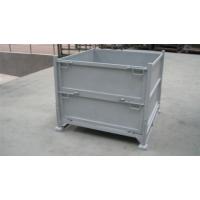 东莞帝腾厂家供应镀锌折叠式钢制周转箱/仓库搬运可折叠收纳箱