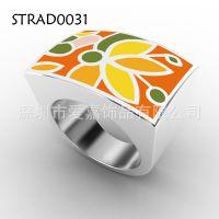 生产钛钢哑铃吊坠项链戒指 订制纯钛饰品 首饰 戒指