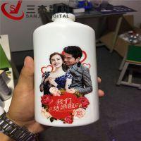玻璃圆柱酒瓶3d打印机供应商 广州uv打印机木质工艺品彩印机