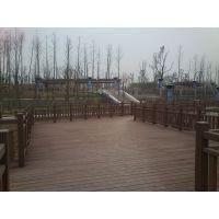 红树林海南万宁市户外木塑地板,木塑护栏