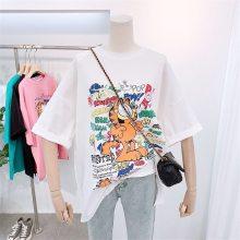 全国的服装批发市场广州夏季时尚T恤纯棉大码短袖5元女装货源批发白色均码