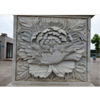 东莞原著雕塑厂家制作花卉浮雕壁画 广场公园小区摆件