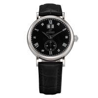 深圳艾尔时ARS-B157G商务男士瑞士机芯全自动机械双历手表精钢防水简约休闲