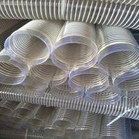 100mmPVC木工除尘管青岛木工行业吸尘管透明塑料波纹管