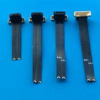 11 MICRO全塑公头带FPC软排线 无线充电头 反向 USB公座 2PIN 背夹充电专用公座 可