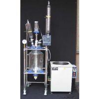 天津实验室乾正仪器80L玻璃反应釜 双层数显调速反应釜 玻璃反应器厂家生产信誉保证