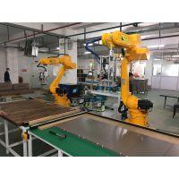 新力光重庆木制品行业打螺丝机器人现场调试