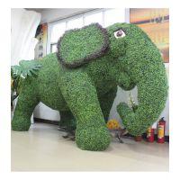 仿真绿植大象 广东厂家定做人造大型动物雕塑 价格最优仿真假绿植动物