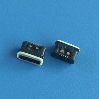 AB型/迈克防水插座 A型/方型口 MICRO防水母座 5P/贴板SMT带防水胶圈 IP67等级