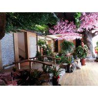 仿真樱花树 餐厅装饰花树 落地仿真树 广州仿真樱花树价格