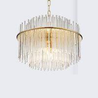 供应 简约透明玻璃棒吊灯北欧后现代新款时尚饭厅餐桌吧台吊灯
