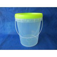 供应20L透明塑料桶 5加仑包装桶 PP桶 压盖密封 全新现货批