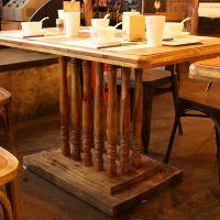 麦德嘉全实木餐桌MDJ-ZTY09松木方桌子主题餐厅胡桃里家具餐桌椅美式乡村家具
