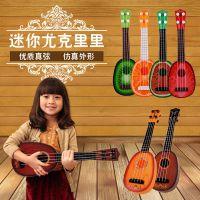 儿童仿真迷你尤克里里手弹小吉他儿童启蒙乐器影楼玩具 网络包装