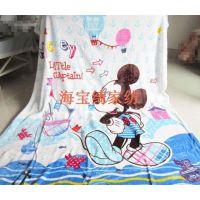 蓝米奇mickey mouse珊瑚绒法兰绒礼品儿童学生毛毯秋冬床单空调毯