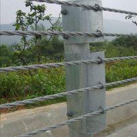 高速公路柔性钢丝缆索护栏 钢丝边坡主动护坡网