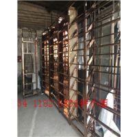 钢之源金属不锈钢酒柜,定制欧式钛金洋酒展示柜