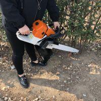 河南汽油动力挖树机 树木带土球链条式挖树机 断根机 鲁强机械
