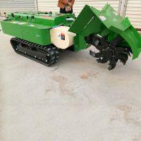 新型多功能履带式果园旋耕回填机 28马力开沟机 启航履带式果园除草机
