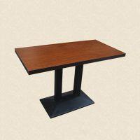 餐厅木质餐桌板式桌子款式包厢木制圆桌订做深圳餐饮家具厂直销