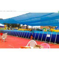 大型充气水上乐园 户外游乐设备 滑梯支架游泳池搭配冲关组合案例