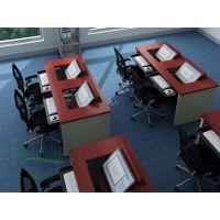 科桌厂家直销可定制培训教室翻转电脑桌多媒体电脑室桌子