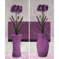 静物画批发 咖啡厅/客厅典雅唯美/紫色 帆布画 家居无框画 普通油画