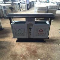 沧州绿美供应户外镀锌钢板垃圾桶 市政街道小区 分类果皮箱 厂家批发