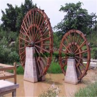 合肥巢湖六安哪里可以定做木质景观水车/景区装饰水轮车/户外防腐木水车