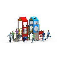 以伦游乐专业厂家加工定制户外儿童PE板塑料组合滑梯YL18-17401,幼儿园游乐设施室内家具等