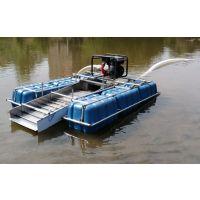 鼓动溜槽采金船图片 简易水上淘金设备