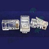 奔朗|RJ45镀金6类网线水晶头-100个/盒